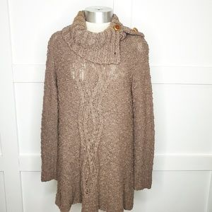 Moth Antropologie Chunky Knit Brown Sweater